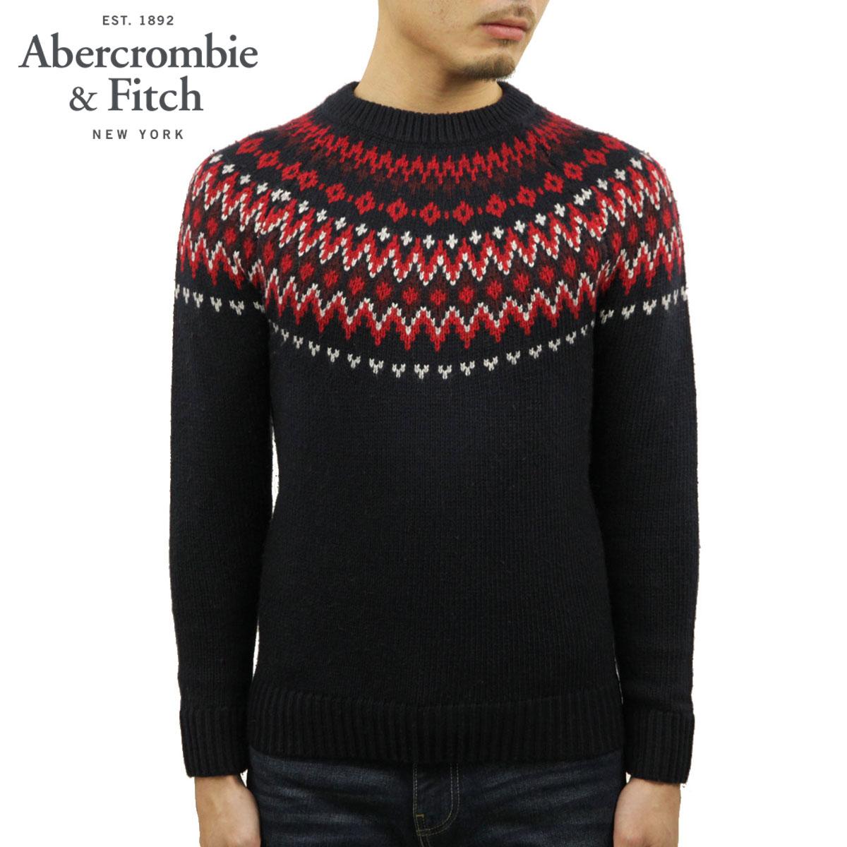 アバクロ セーター メンズ 正規品 Abercrombie&Fitch クルーネックセーター FAIR ISLE CREWNECK SWEATER 120-201-1664-203 A02B B1C C1D D7E E06F