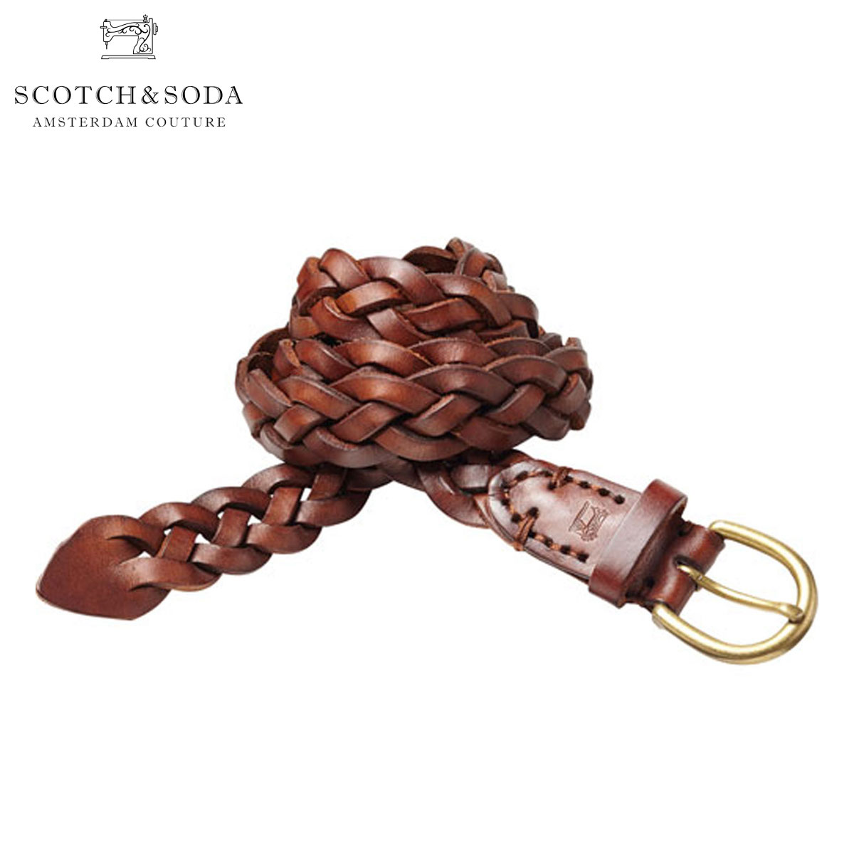 スコッチアンドソーダ ベルト 正規販売店 SCOTCH&SODA  Woven wax leather belt 76154 82 A39B B1C C3D D6E E04F