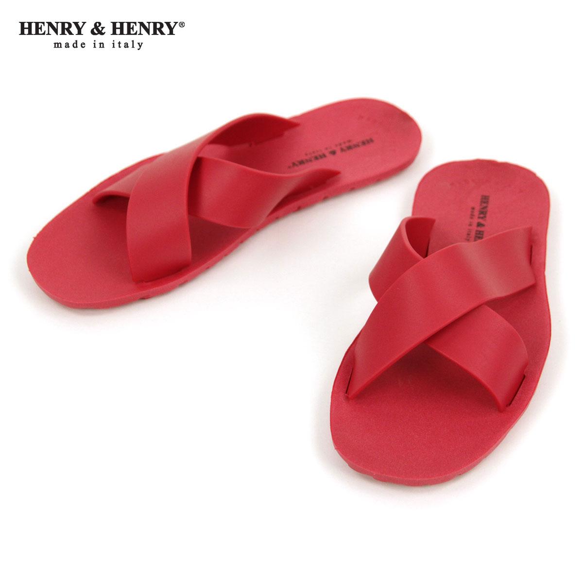 ヘンリーアンドヘンリー HENRY&HENRY 正規販売店 サンダル クロス CROSS SANDAL ROSSO 55 A66B B3C C4D D3E E11F