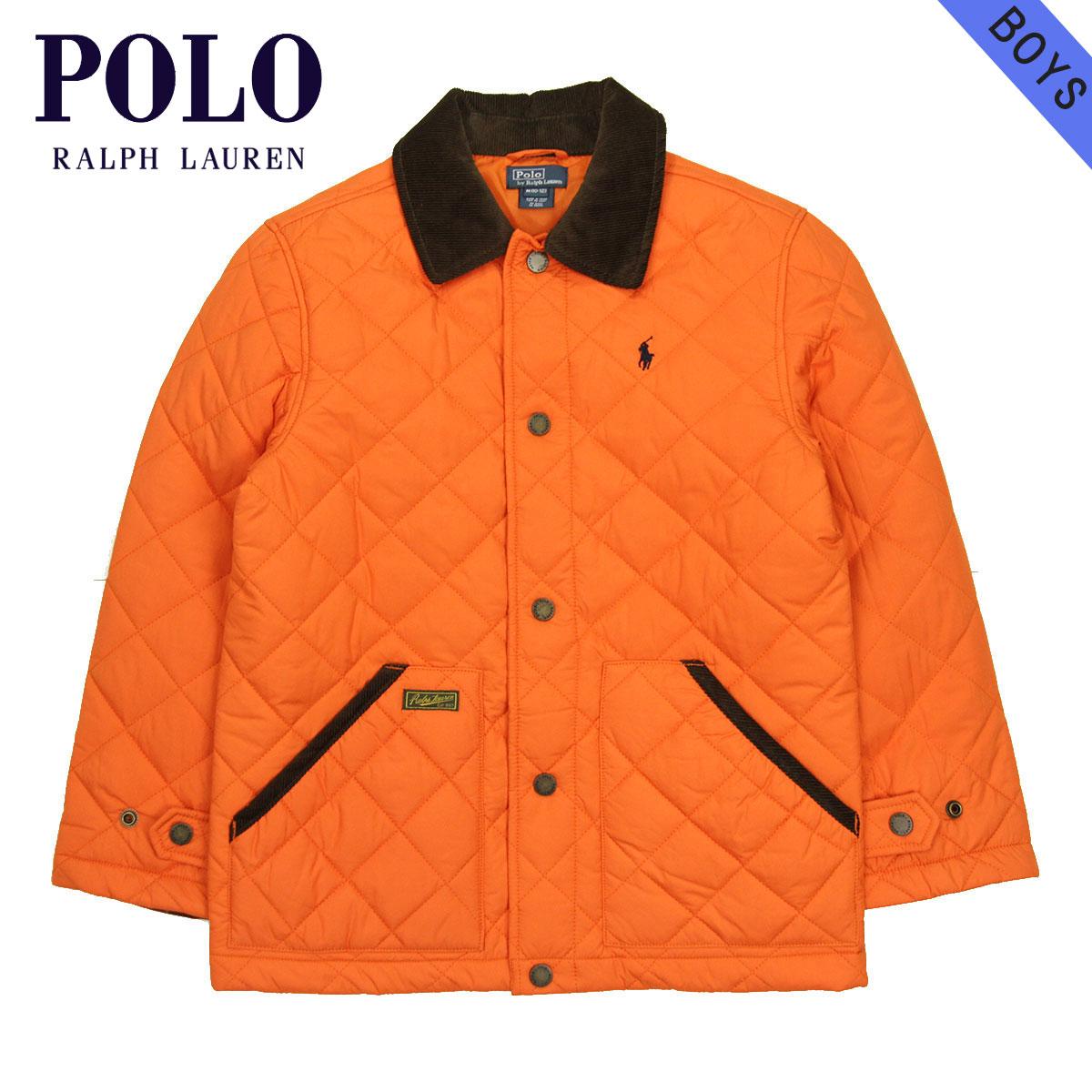 ポロ ラルフローレン キッズ POLO RALPH LAUREN CHILDREN 正規品 子供服 ボーイズ キルティングジャケット New Hagan Jacket #22358276 ORANGE A63B B5C C1D D4E E10F