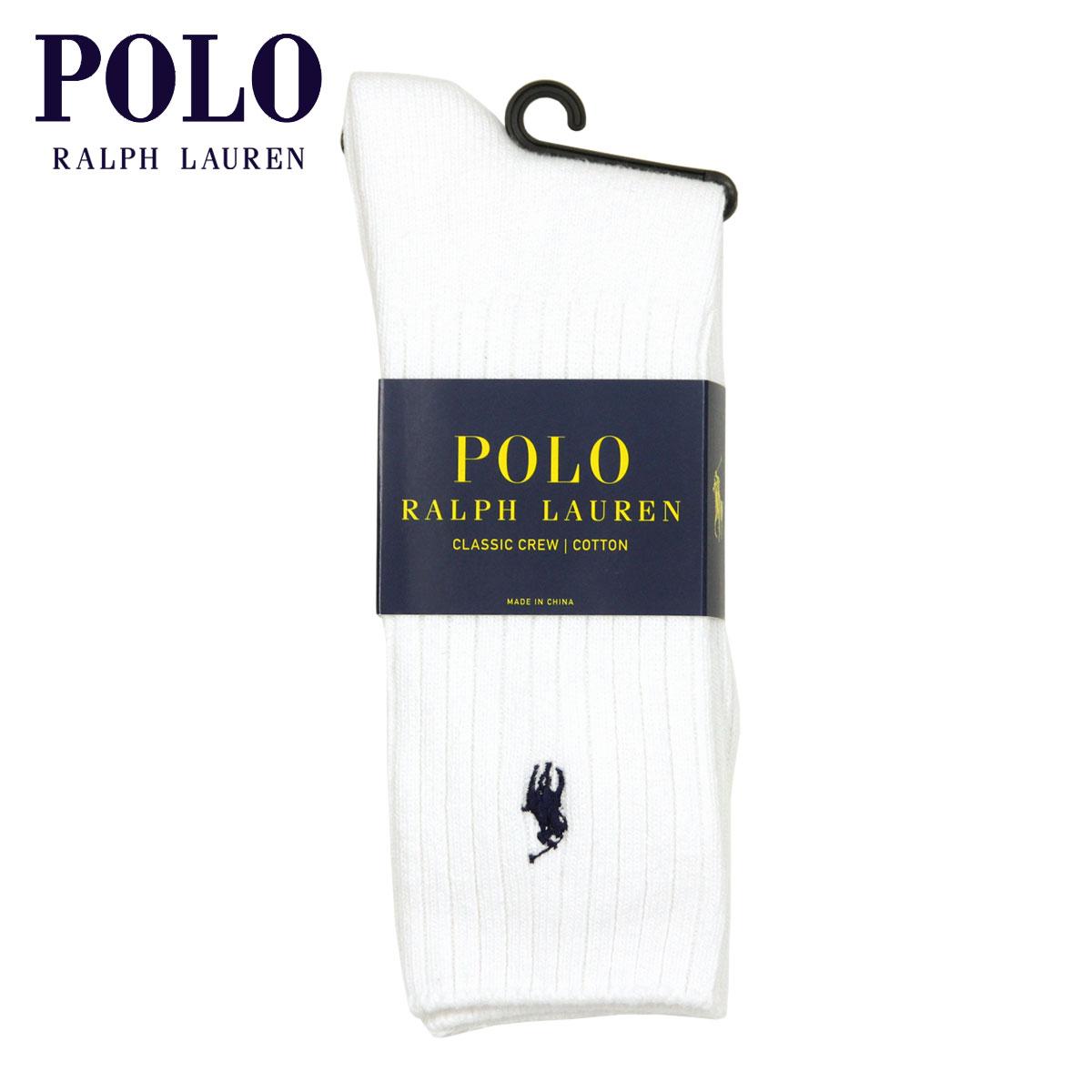 ポロ ラルフローレン POLO RALPH LAUREN 正規品 ソックス COTTON RIB SINGLE SOCK WHITE 100 - WHITE A05B B1C C3D D1E E01F