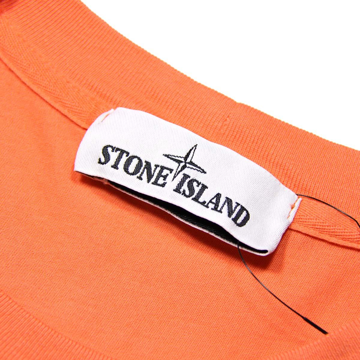 ストーンアイランド Tシャツ メンズ 正規品 STONE ISLAND 半袖Tシャツ T-SHIRT ORANGE ARAGOSTA 24113 V0037 AB4B B1C C1D D1E E10F ホワイトデー 2021 ラッピング無料