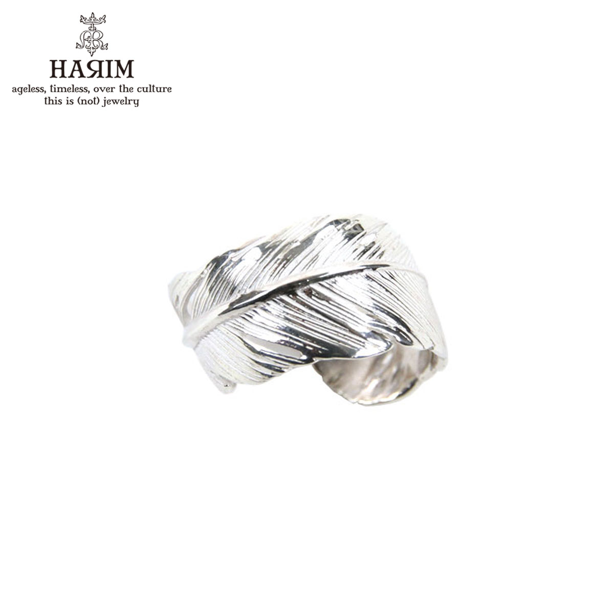 ハリム HARIM 指輪 リング HARIM FEATHER RING 2 SVWH HRR040 WH SILVER 925 A82B B3C C3D D8E E32F