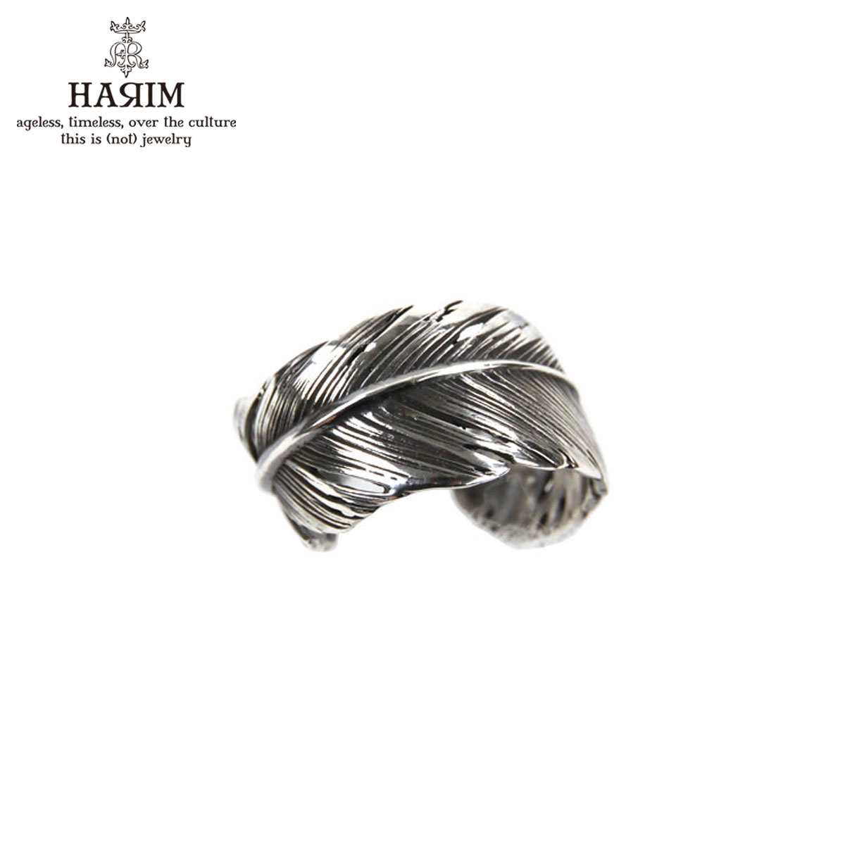 ハリム HARIM 指輪 リング HARIM FEATHER RING 2 SVBK HRR040 OX SILVER 925 OXIDIZED BLACK A82B B3C C3D D8E E32F