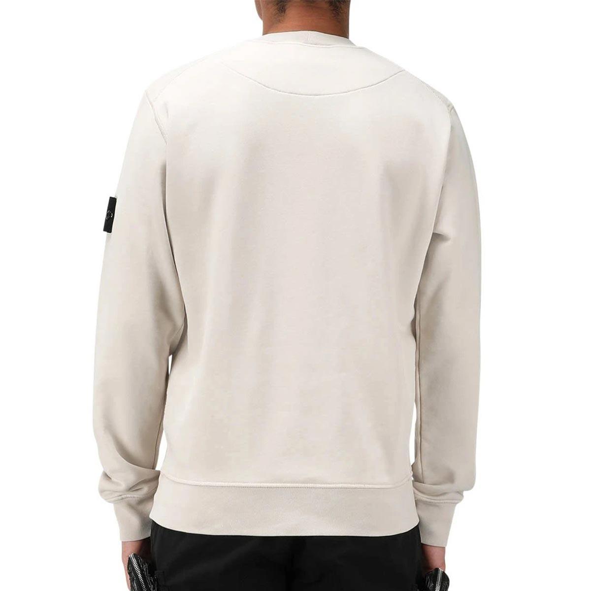 ストーンアイランド スウェット メンズ 正規品 STONE ISLAND トレーナー 無地 FLEECE WHITE FELPA BIANCO 63051 V0001 AB4B B1C C1D D5E E01F ホワイトデー 2021 ラッピング無料