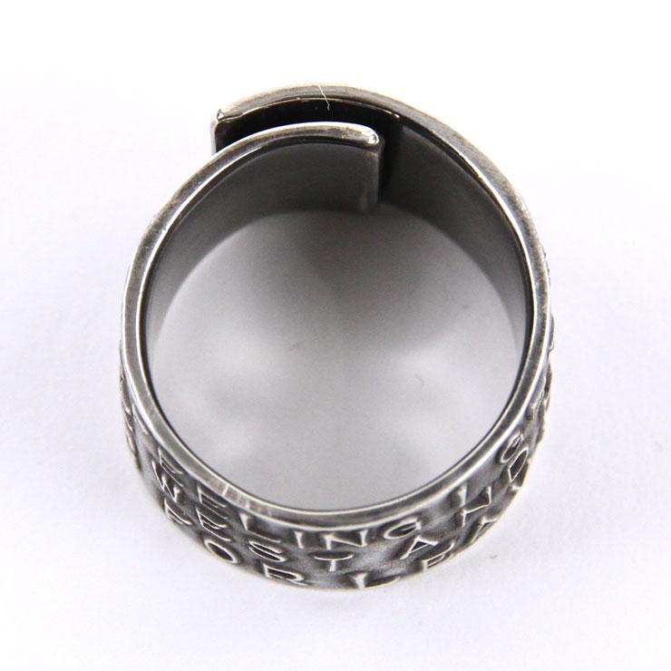 ハリム HARIM 正規販売店 指輪 リング STAIRWAY TO HEAVEN WIDE RING HRR037SV SILVER 925 OXIDIZED BLACK A82B B3C C3D D8E E32F