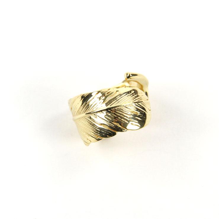 ハリム HARIM 指輪 リング HARIM FEATHER RING 2 GP HRR040 GP SILVER 925 18 GOLD PLATED A82B B3C C3D D8E E33F