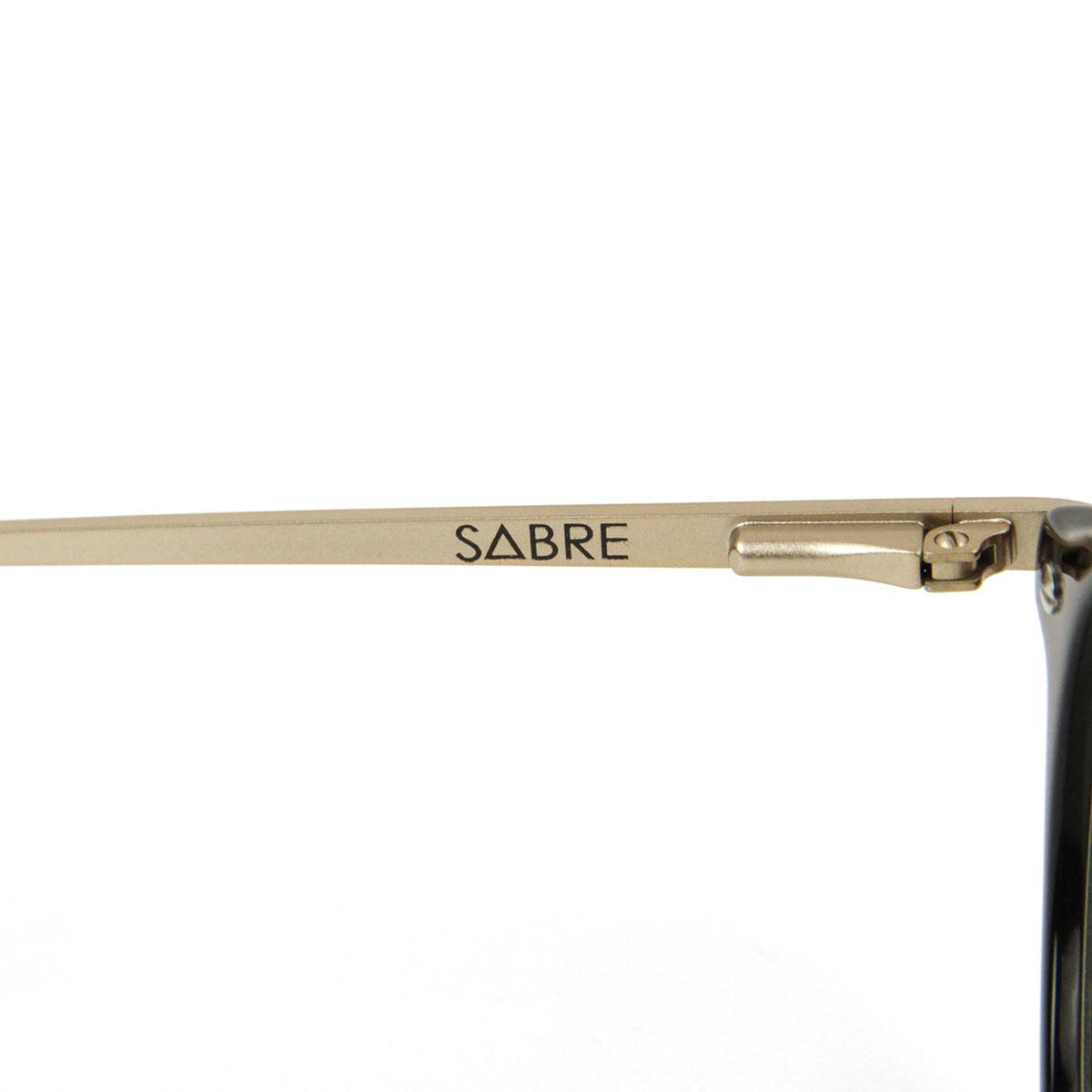 セイバー SABRE 正規販売店 サングラス めがね THE FUDGE BLACK-MATTE GOLD METAL FRAME CLEAR LENS RX SV226-112J A55B B3C C3D D1E E13F