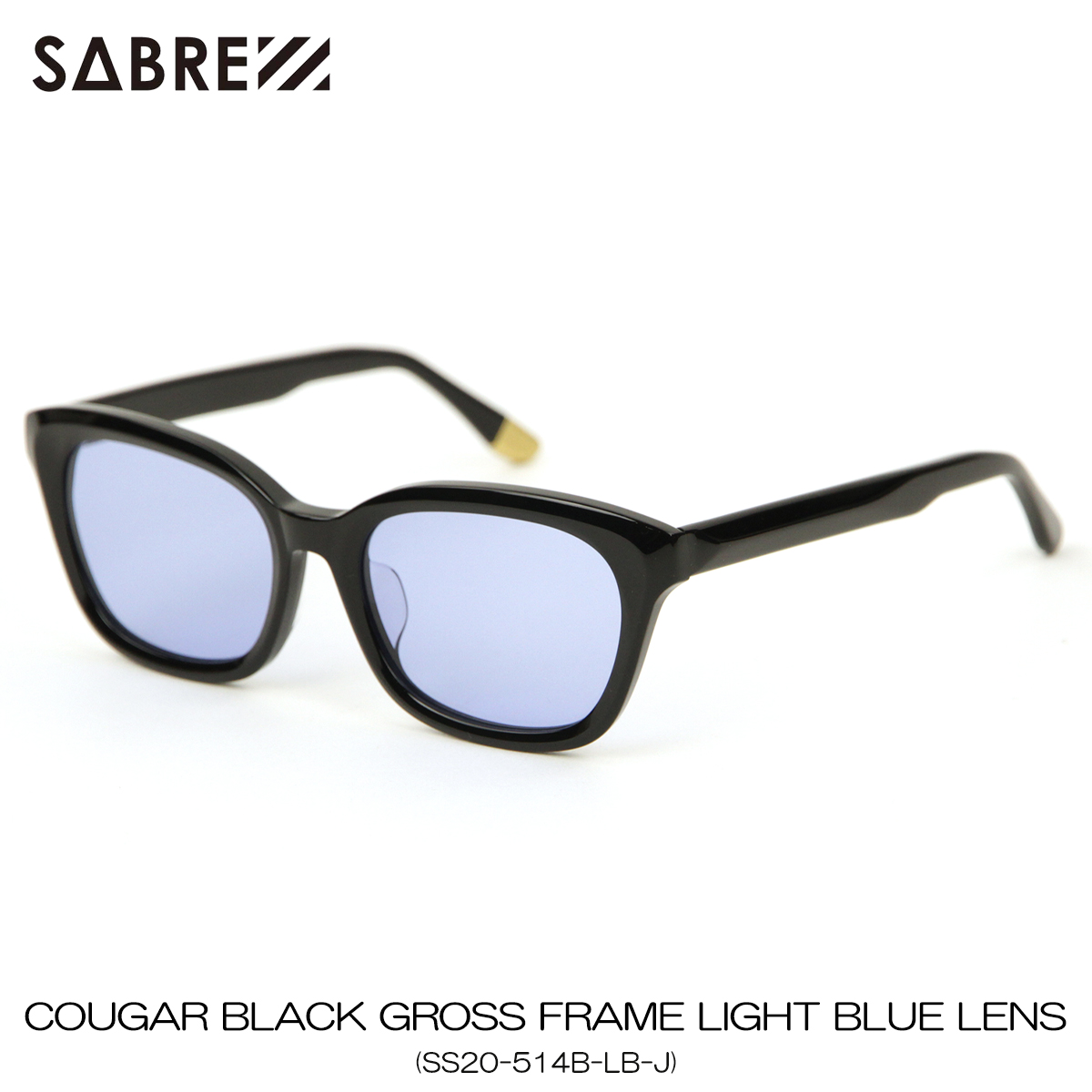 セイバー サングラス 正規販売店 SABRE サングラス COUGAR BLACK GROSS FRAME SUNGLASS LIGHT BLUE LENS SS20-514B-LB-J A55B B3C C3D D1E E13F