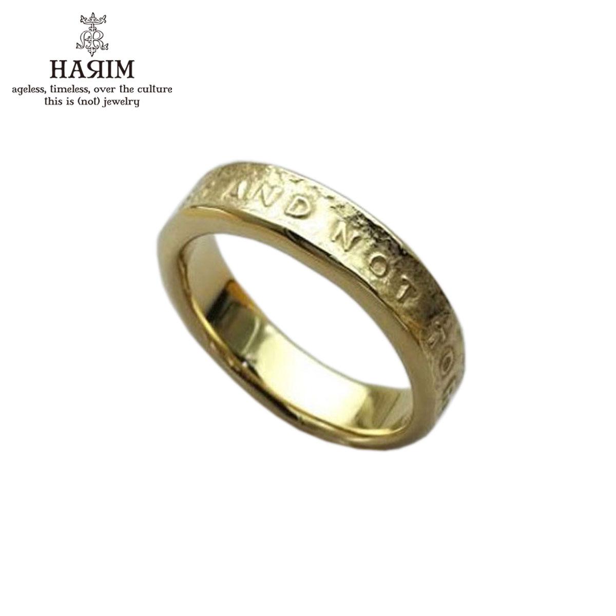ハリム HARIM 正規販売店 指輪 リング STAIRWAY TO HEAVEN NARROW RING HRR038GP SILVER 925 K18YG GOLD PLATING A82B B3C C3D D8E E33F