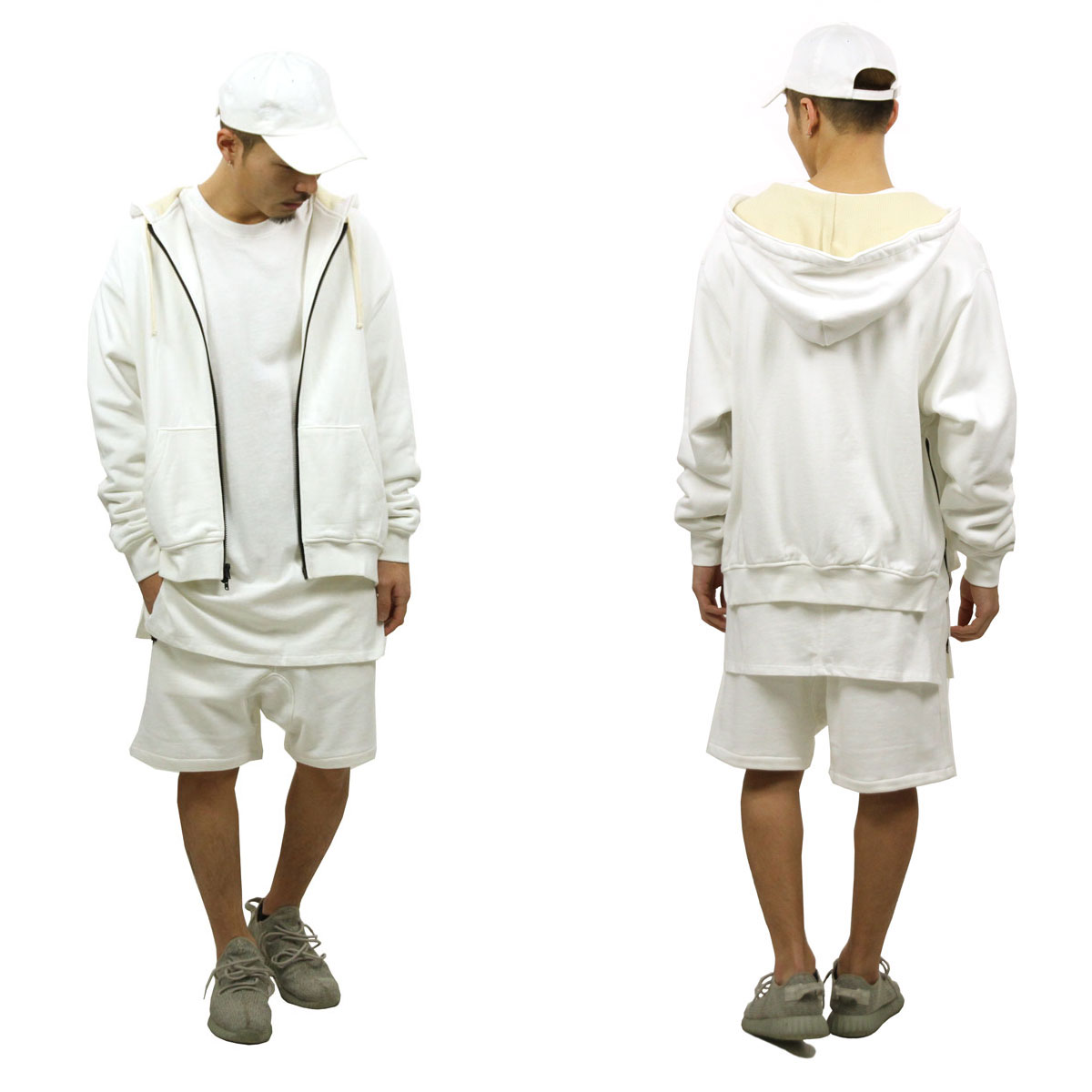 フィアオブゴッド パーカー メンズ 正規品 FEAR OF GOD ジップアップパーカー  FOG - FEAR OF GOD ESSENTIALS THERMAL ZIP HOODIE WHITE AA5B B1C C1D D5E E01F