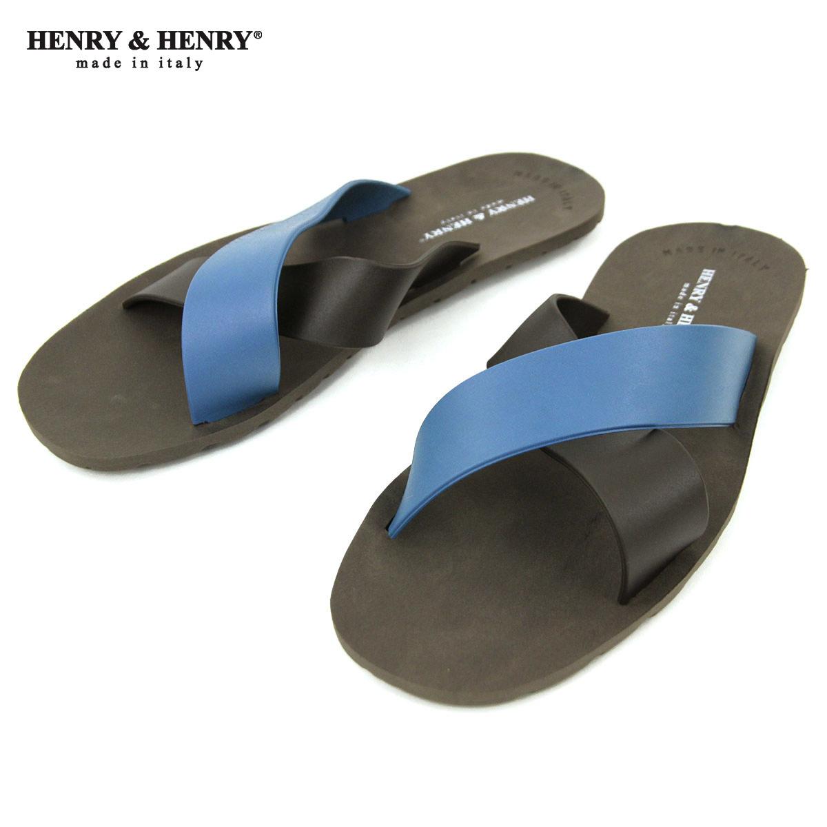 ヘンリーアンドヘンリー サンダル メンズ レディース 正規販売店 HENRY&HENRY ビーチサンダル クロス CROSS SANDAL MARRON / MARRON /PETROL 11 A66B B3C C4D D3E E04F