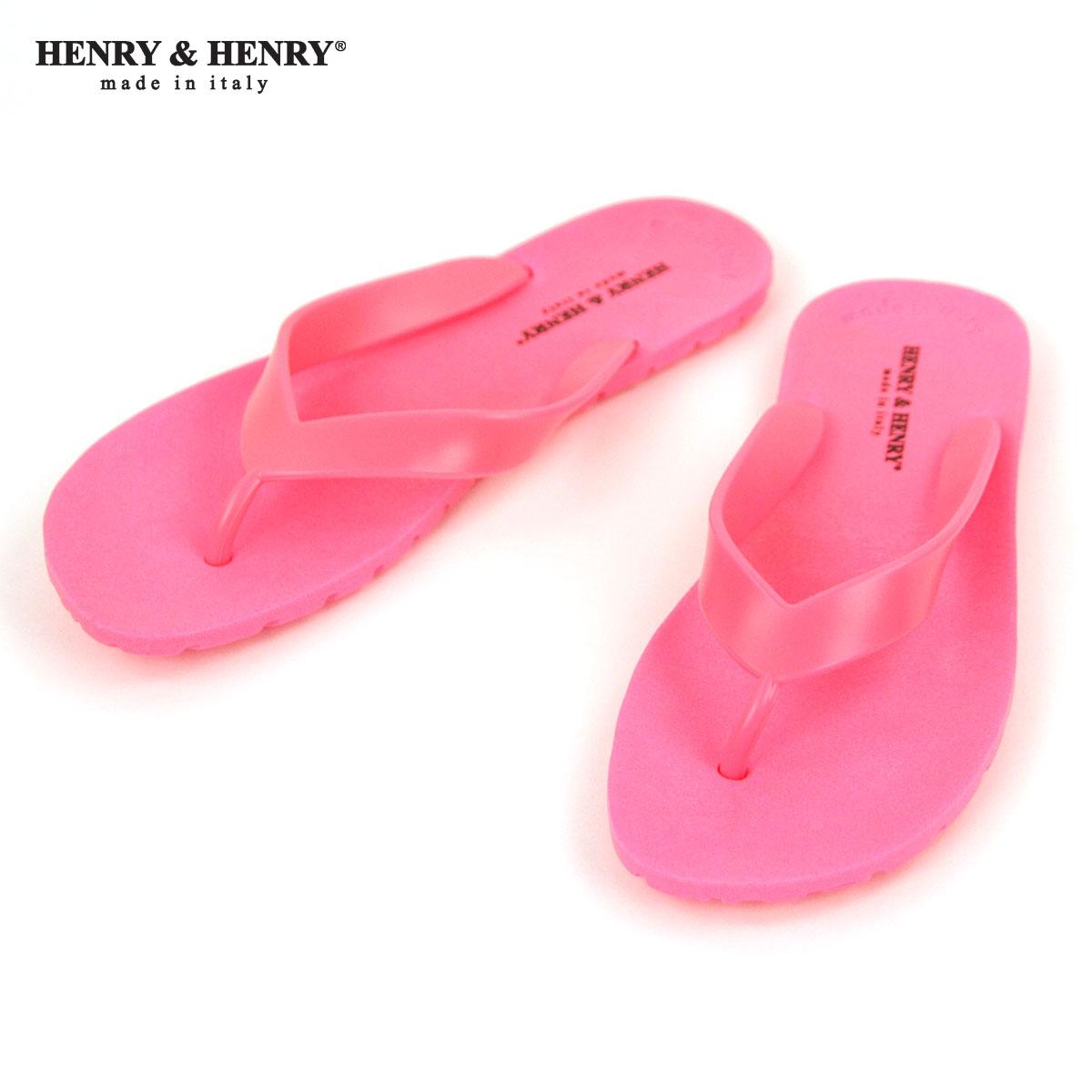 ヘンリーアンドヘンリー HENRY&HENRY 正規販売店 サンダル フリッパー FRIPPER SANDAL FUCSIA FLUO PINK 35 A66B B3C C4D D3E E11F
