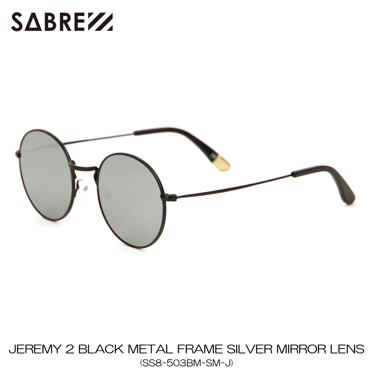 セイバー SABRE 正規販売店 サングラス めがね JEREMY 2 GOLD METAL FRAME SILVER MIRROR LENS SUNGLASS SS8-503BM-SM-J A55B B3C C3D D1E E13F