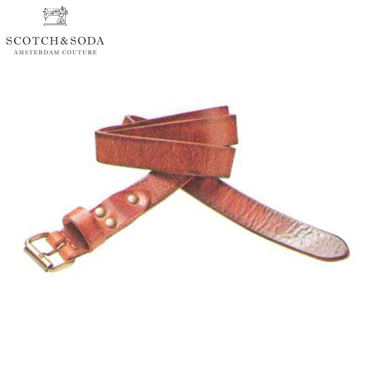 スコッチアンドソーダ ベルト 正規販売店 SCOTCH&SODA  Skinny leather belt 76101 70