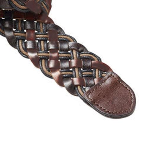 スコッチアンドソーダ ベルト 正規販売店 SCOTCH&SODA  Multicoloured woven leather belt 76112 B