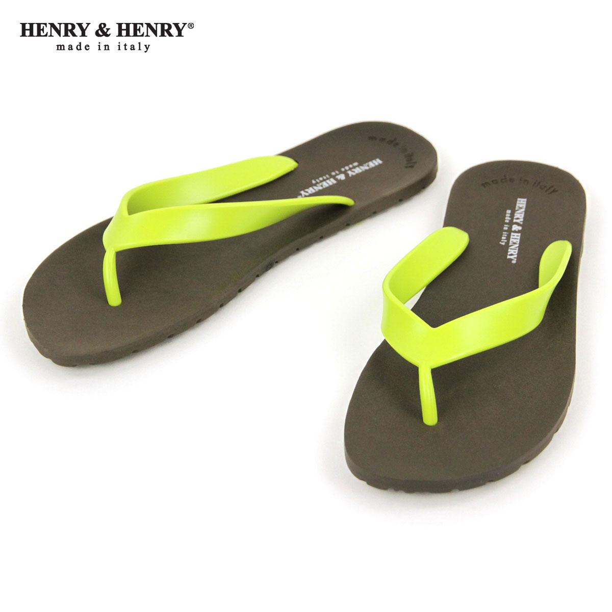 ヘンリーアンドヘンリー HENRY&HENRY 正規販売店 サンダル フリッパー FRIPPER SANDAL MARRON / LIME 29/7 A66B B3C C4D D3E E04F