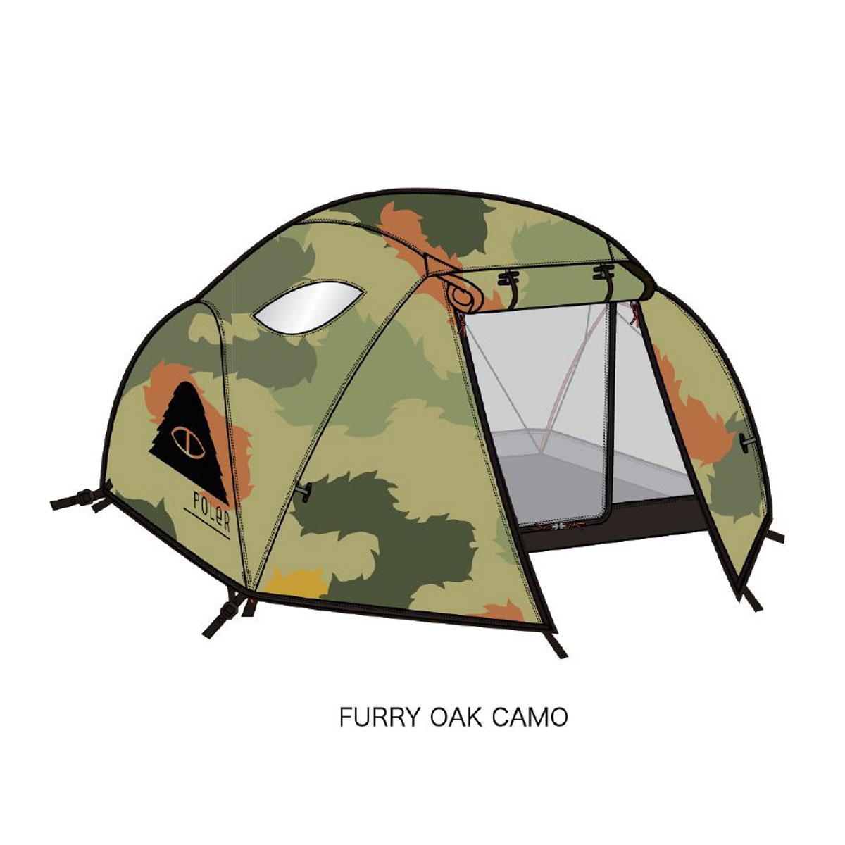 ポーラー テント 正規販売店 POLER テント 2MAN TENT FURRY OAK CAMO A79B B3C CAD D2E E08F