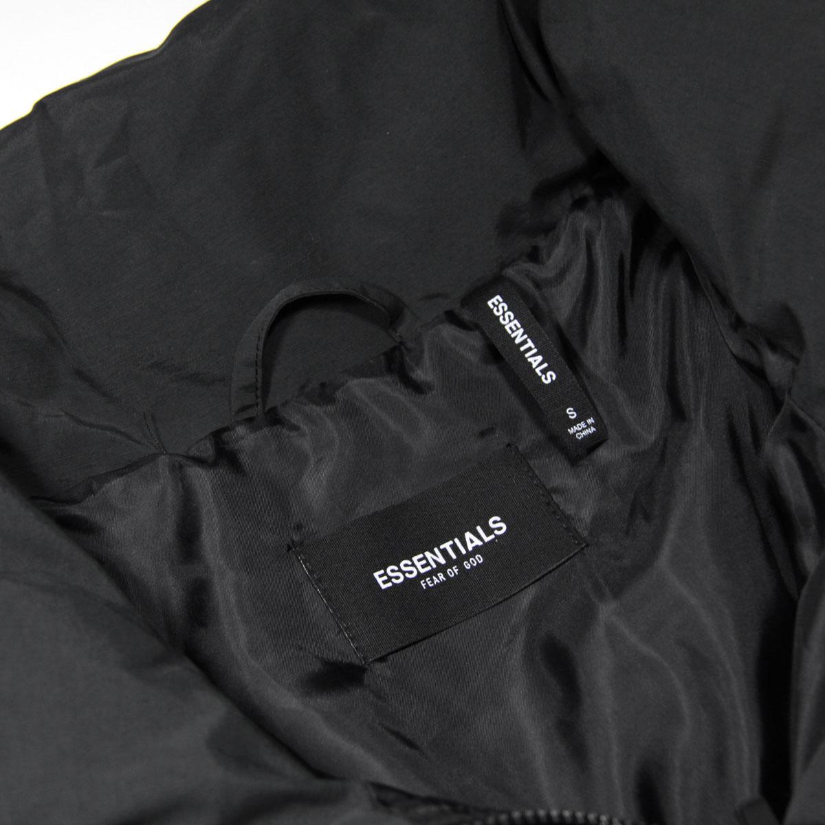 フィアオブゴッド ジャケット 正規品 FEAR OF GOD エッセンシャルズ 中綿入りパファージャケット FOG - FEAR OF GOD ESSENTIALS PUFFER JACKET BLACK AA5B B1C C1D D4E E13F