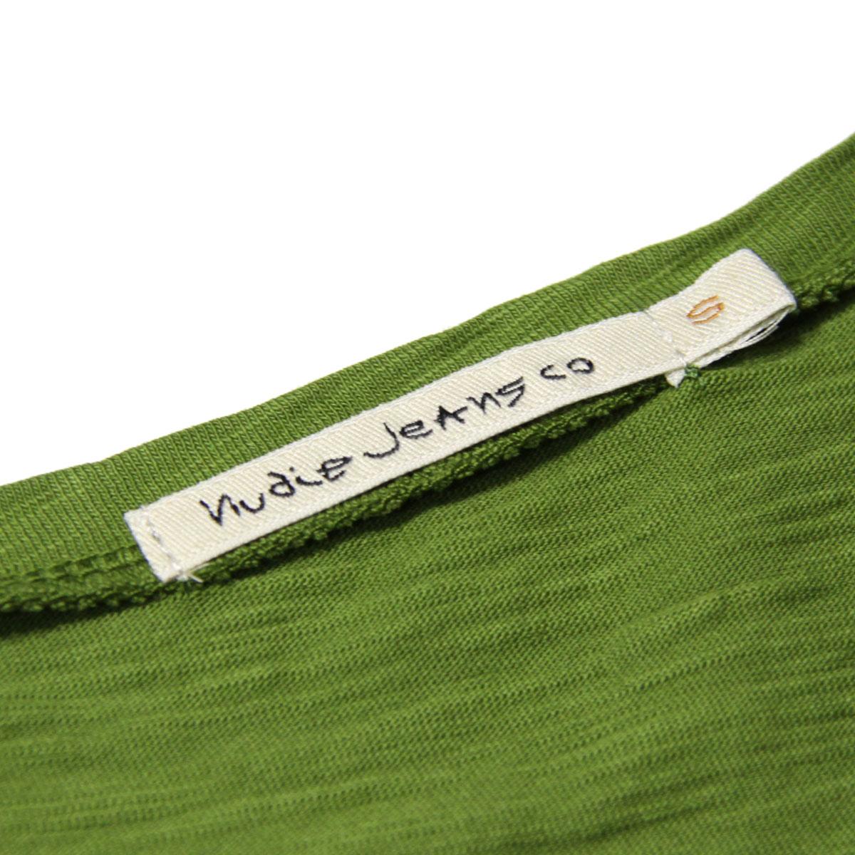 ヌーディージーンズ Tシャツ 正規販売店 Nudie Jeans 半袖Tシャツ クルーネック ROGER SLUB CREW TEE SHIRT PEA G22 131484 A62B B1C C1D D1E E08F