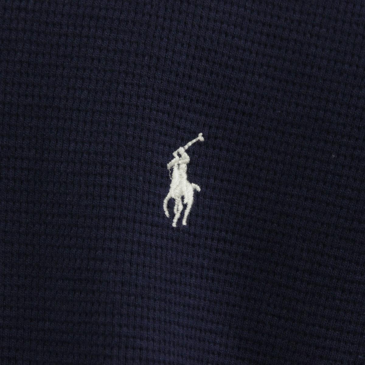 ポロ ラルフローレン Tシャツ メンズ 正規品 POLO RALPH LAUREN 長袖Tシャツ  L/S Thermal ネイビー A05B B1C C1D D2E E06F