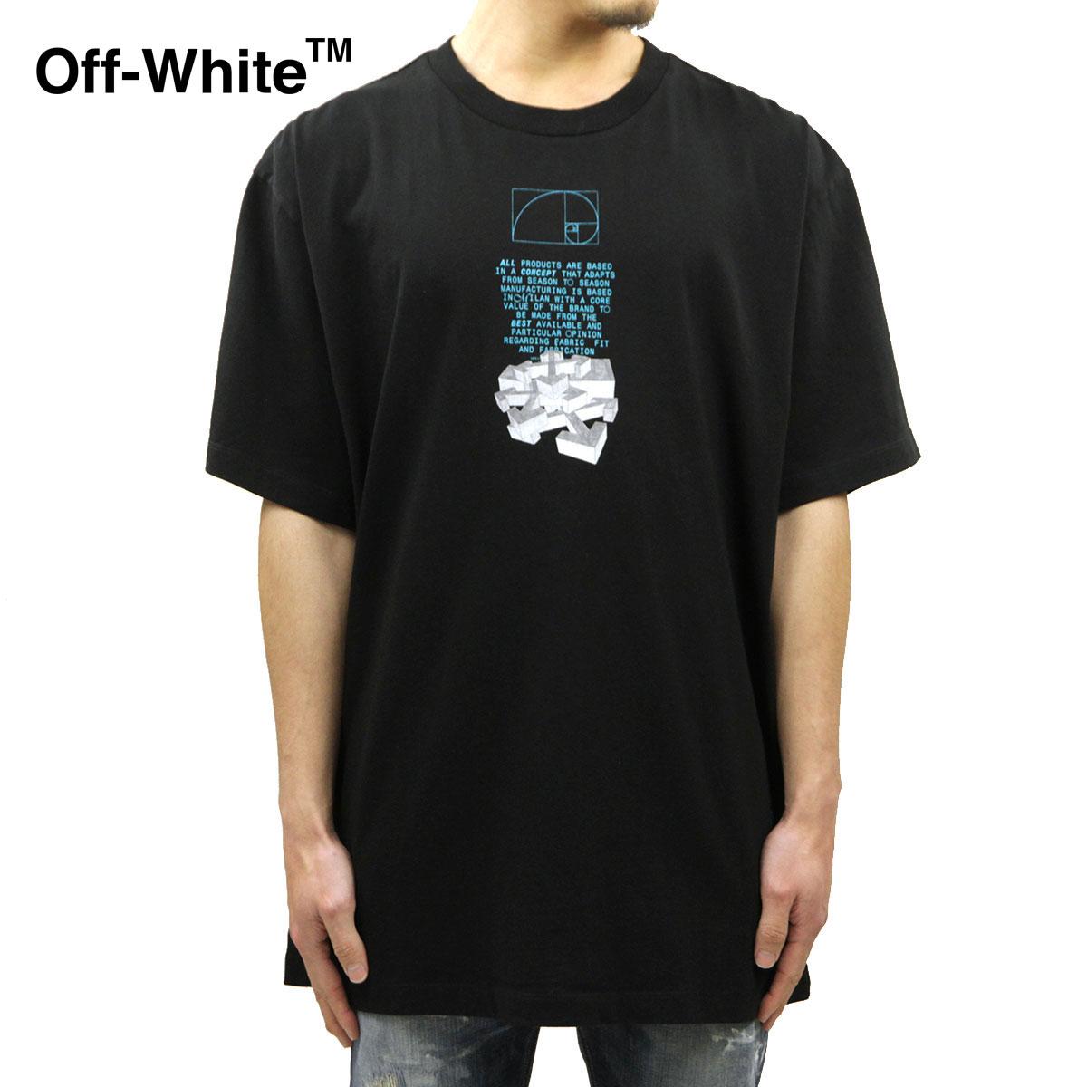 オフホワイト Tシャツ メンズ 正規品 OFF-WHITE 半袖Tシャツ クルーネックTシャツ DRIPPING ARROWS S/S OVER TEE BLACK WHITE OMAA038R201850051001 AB3B B1C C1D D1E E13F