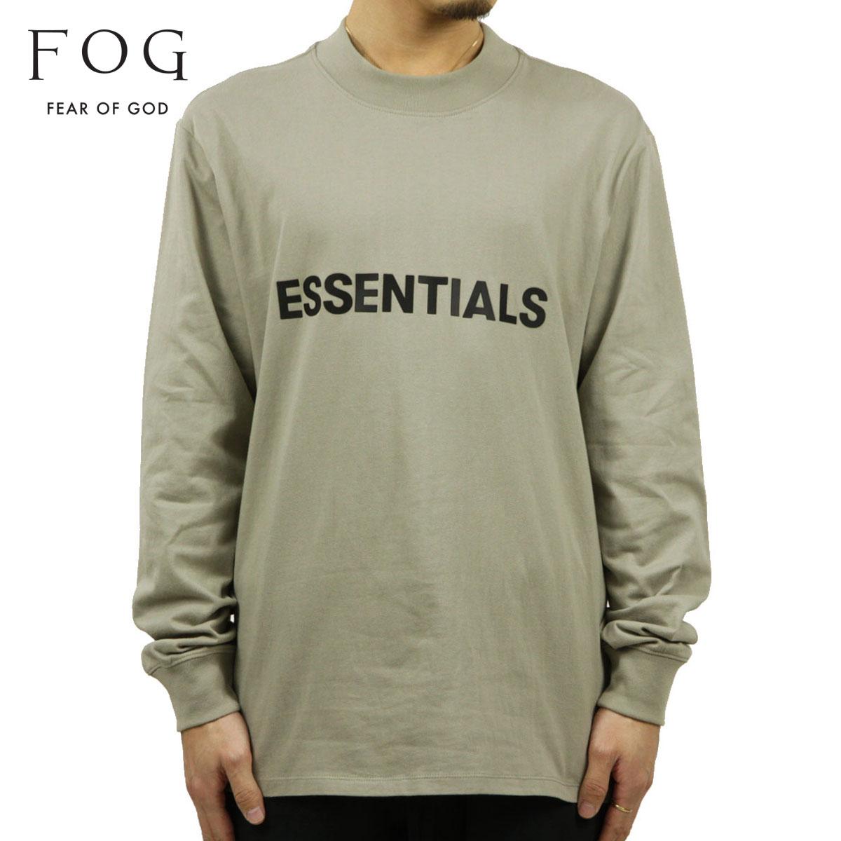 フィアオブゴッド Tシャツ メンズ 正規品 FEAR OF GOD エッセンシャルズ 長袖Tシャツ ロゴ クルーネック FOG - FEAR OF GOD ESSENTIALS LONG SLEEVE MOSS AA5B B1C C1D D2E E08F ホワイトデー 2021 ラッピング無料