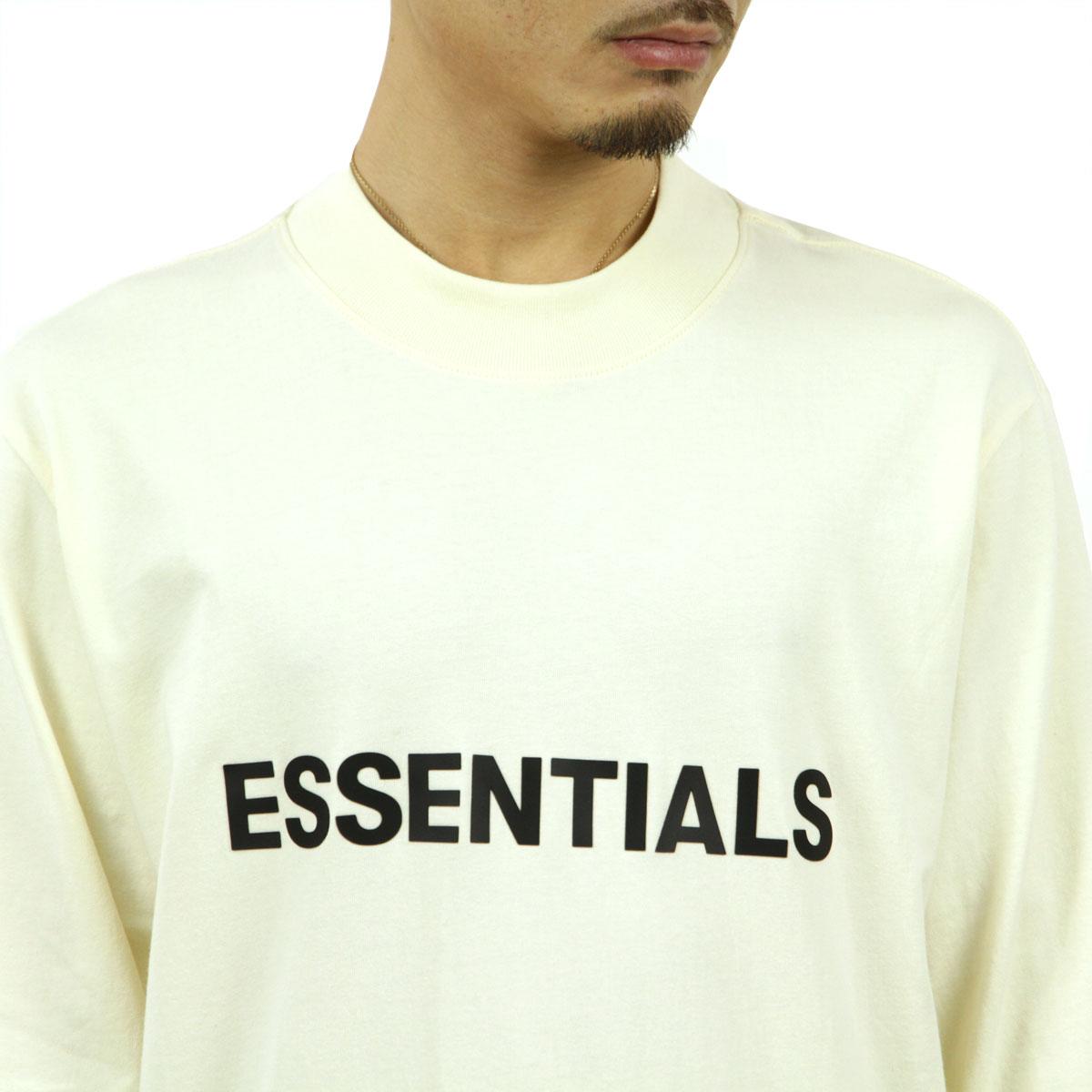 フィアオブゴッド Tシャツ メンズ 正規品 FEAR OF GOD エッセンシャルズ 長袖Tシャツ ロゴ クルーネック FOG - FEAR OF GOD ESSENTIALS LONG SLEEVE CREAM AA5B B1C C1D D2E E18F ホワイトデー 2021 ラッピング無料