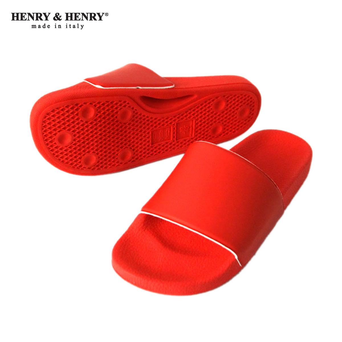 ヘンリーアンドヘンリー HENRY&HENRY 正規販売店 サンダル 180 SHOWER SANDAL RED 17 A66B B3C C4D D3E E11F