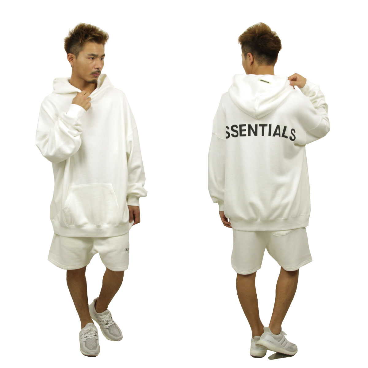 フィアオブゴッド パーカー メンズ 正規品 FEAR OF GOD プルオーバーパーカー ロゴ FOG - FEAR OF GOD ESSENTIALS PULLOVER HOODIE WHITE AA5B B1C C1D D5E E01F