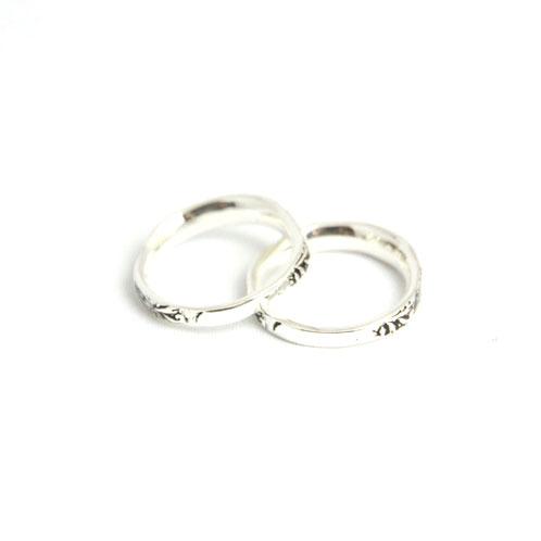 ハリム HARIM 正規販売店 指輪 リング arabesqu double ring silver A82B B3C C3D D8E E32F