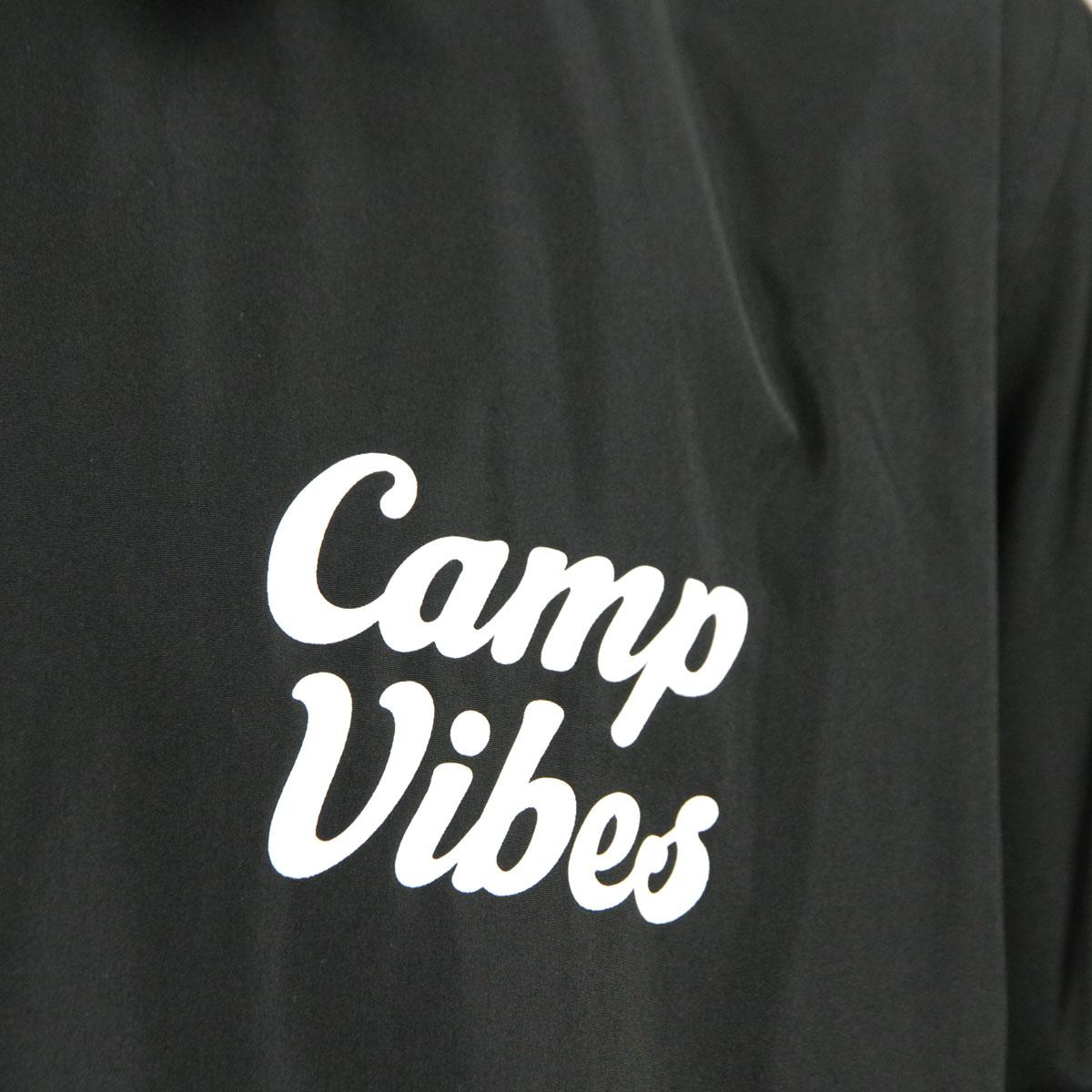 ポーラー アウター メンズ 正規販売店 POLER ジャケット コートジャケット CAMP VIBES COACH JACKET BLACK A79B B1C C1D D4E E13F ホワイトデー 2021 ラッピング無料