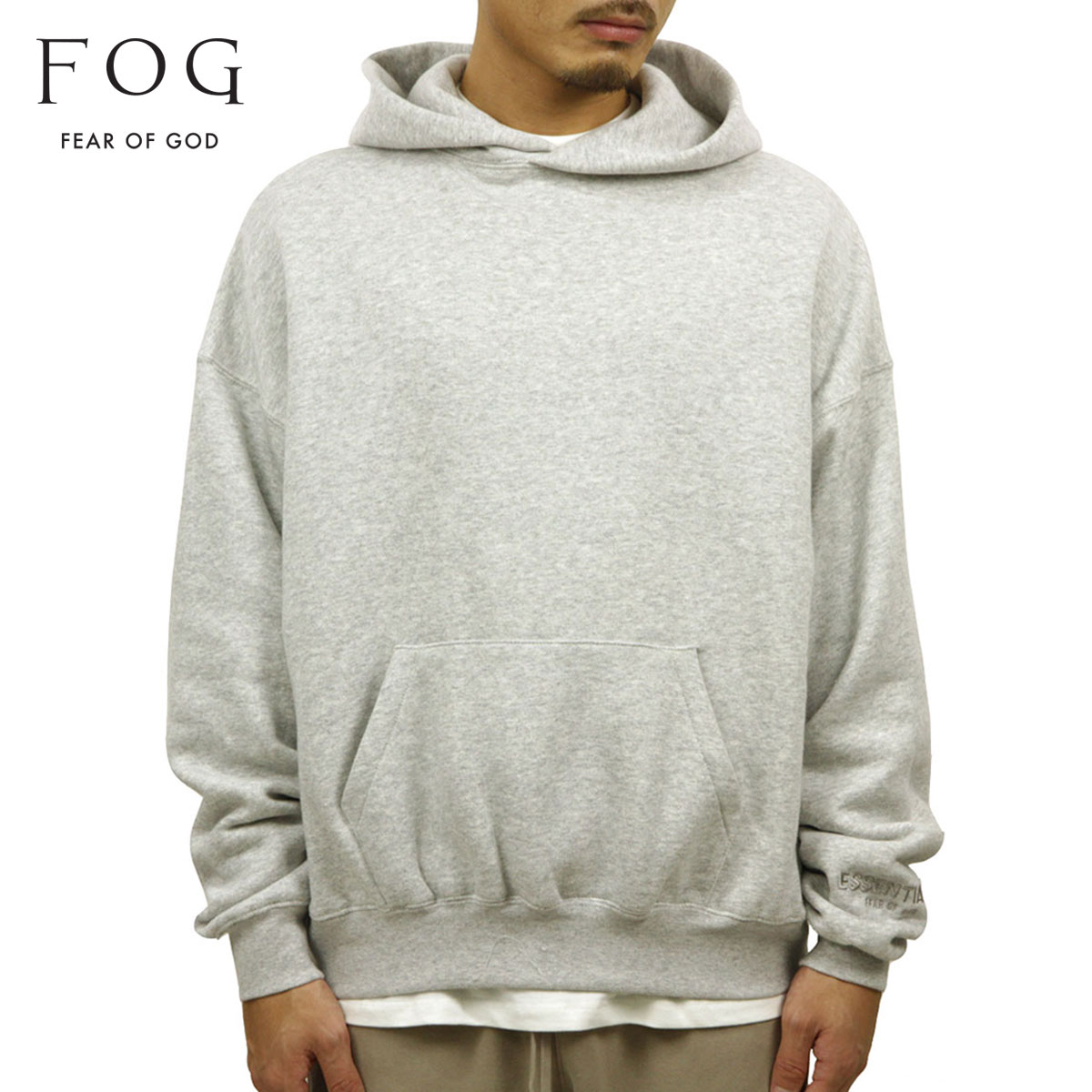 フィアオブゴッド パーカー メンズ 正規品 FEAR OF GOD プルオーバーパーカー FOG - FEAR OF GOD ESSENTIALS PULLOVER HOODIE HEATHER GREY AA5B B1C C1D D5E E02F
