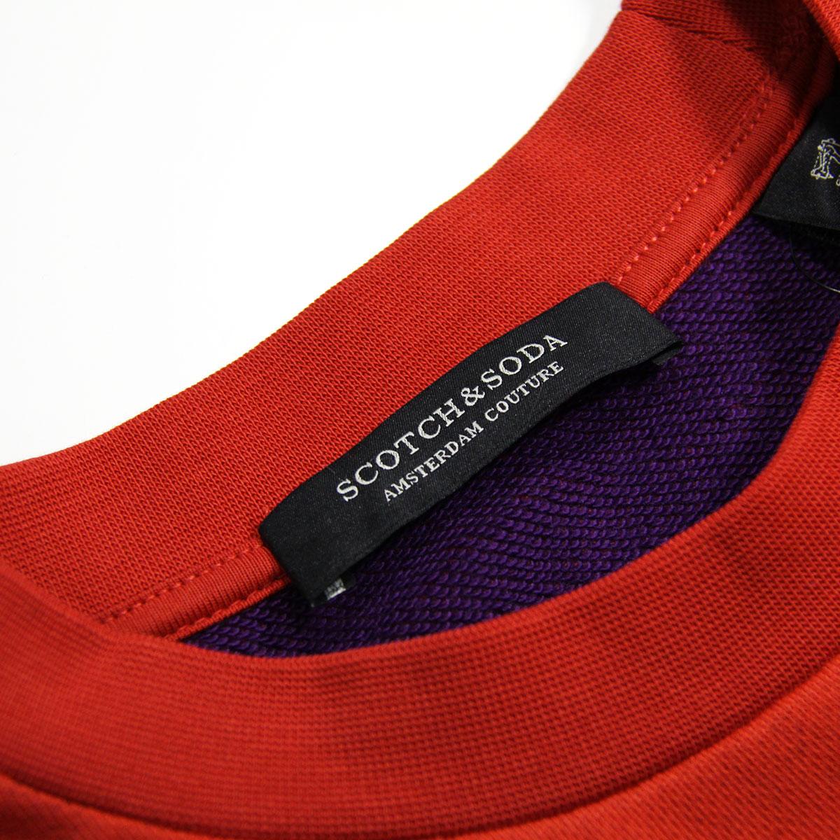 スコッチアンドソーダ スウェット メンズ 正規販売店 SCOTCH&SODA トレーナー CLASSIC CREWNECK SWEAT 155254 2762 13800 15 FIESTA RED A39B B1C C1D D5E E11F