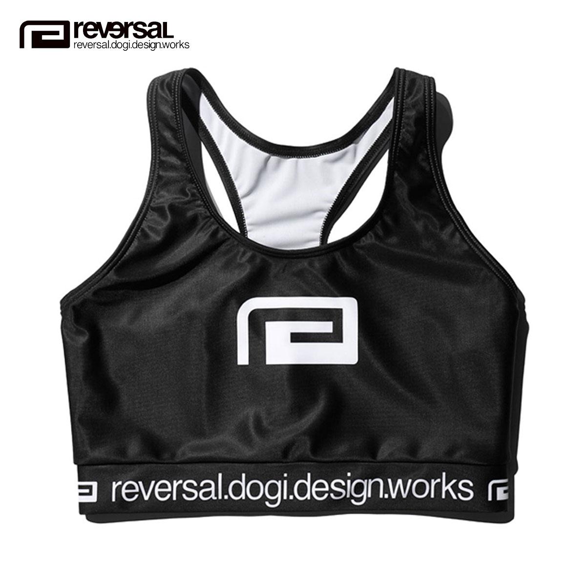 リバーサル インナーウエア レディース 正規販売店 REVERSAL インナー スポーツブラ  BIG MARK ACTIVE BRA rv19ss039 BLACK A06B B2C C7D D4E E13F