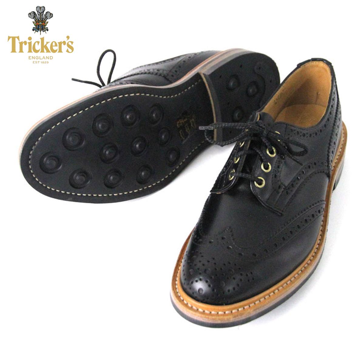 トリッカーズ TRICKERS 正規販売店 カントリーシューズ TRICKER'S M7292 WING TIP SHOES BLACK A86B B1C C4D D5E E13F