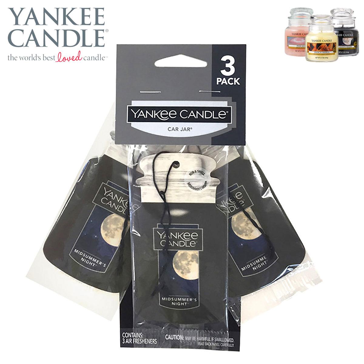 ヤンキーキャンドル フレグランス 正規販売店 YANKEE CANDLE 車用芳香剤 エアーフレッシュナー YCカージャー ボーナスパック 3PACK ミッドサマーズナイト K3180511 A49B B3C C3D D0E E00F