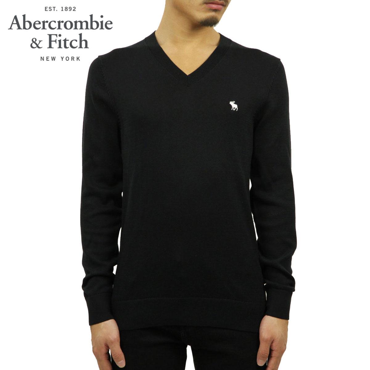 アバクロ セーター メンズ 正規品 Abercrombie&Fitch Vネックセーター ワンポイントロゴ  THE A&F ICON V-NECK SWEATER 120-201-1574-900 A02B B1C C1D D7E E13F