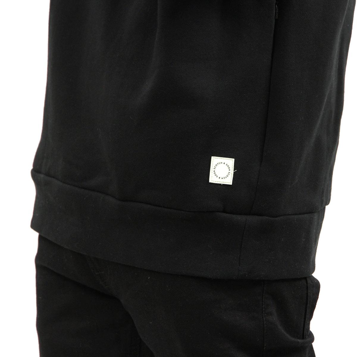 スコッチアンドソーダ パーカー メンズ 正規販売店 SCOTCH&SODA プルオーバーパーカー CLUB NOMADE DOUBLE NECK HOODIE D 154202 0008 13825 08 BLACK A39B B1C C1D D5E E13F