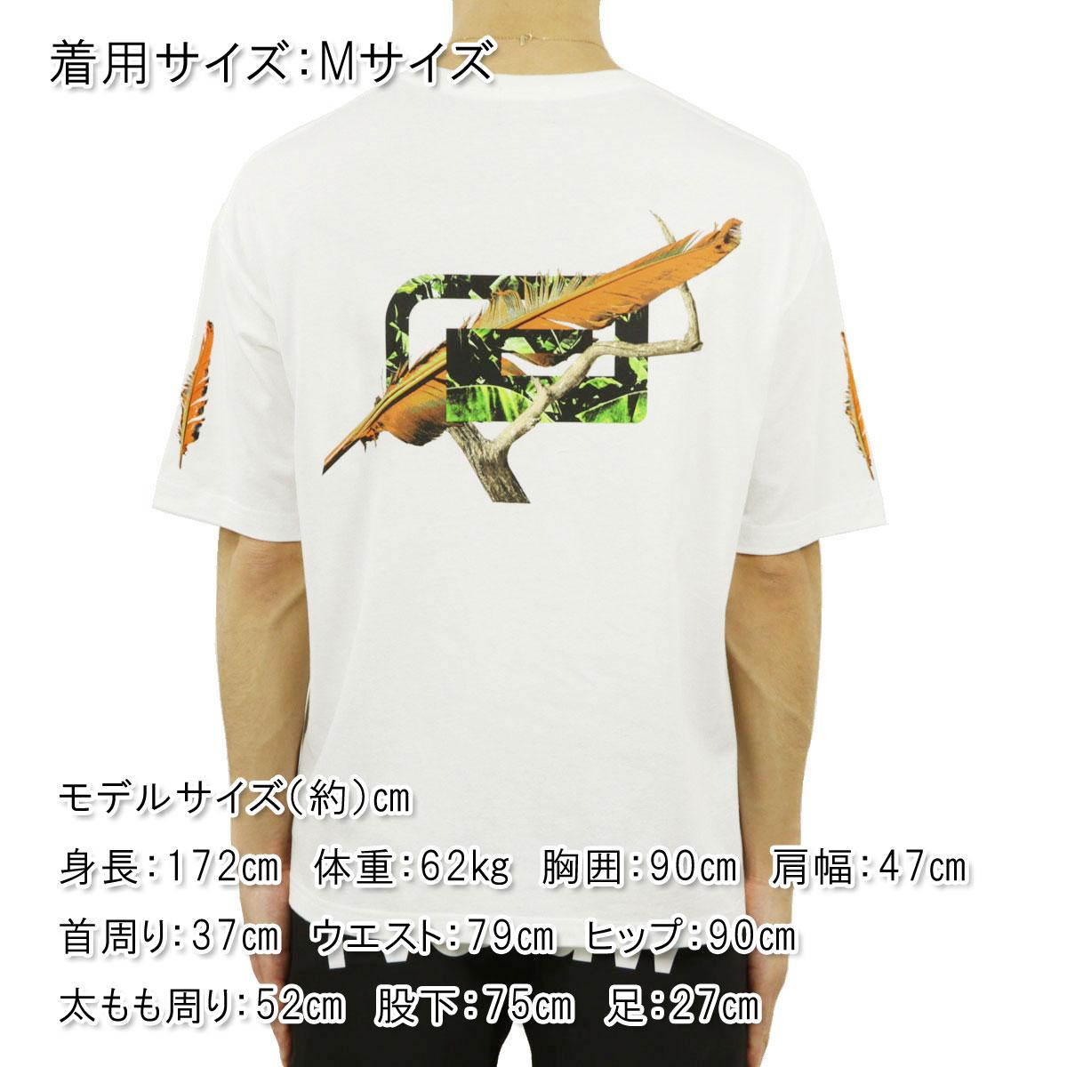 リバーサル Tシャツ メンズ 正規販売店 REVERSAL クルーネック半袖Tシャツ ビッグシルエット FEATHER BIG MARK BIG SILHOUETTE COTTON TEE rv21ss003 WHITE A06B B1C C1D D1E E01F