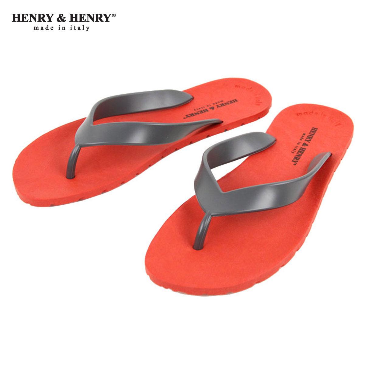 ヘンリーアンドヘンリー HENRY&HENRY 正規販売店 サンダル フリッパー FRIPPER SANDAL RED / ANTHRACITE A66B B3C C4D D3E E11F
