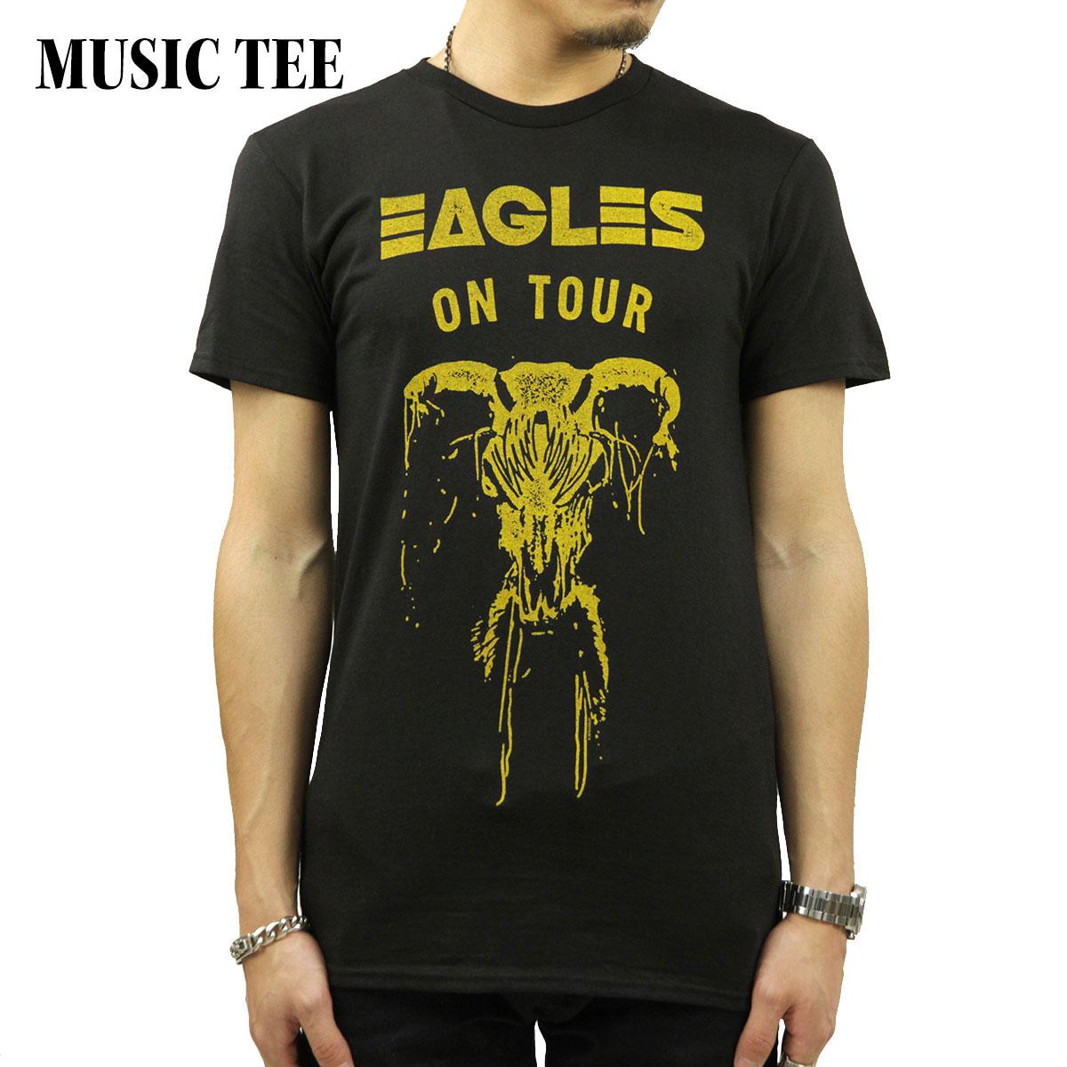 ミュージックティ バンドTシャツ メンズ 正規品 MUSIC TEE ロックTシャツ 半袖Tシャツ イーグルス THE EAGLES ON TOUR SKULL MUSIC TEE AB5B B1C C1D D1E E13F