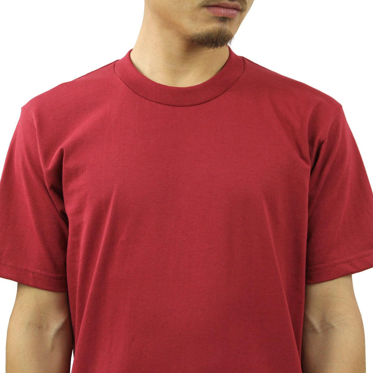 プロクラブ Tシャツ メンズ 正規販売店 PROCLUB 半袖Tシャツ クルーネックTシャツ HEAVY WEIGHT COTTON SHORT SLEEVE CREW NECK T-SHIRT BURGUNDY #101 AB6B B1C C1D D1E E11F
