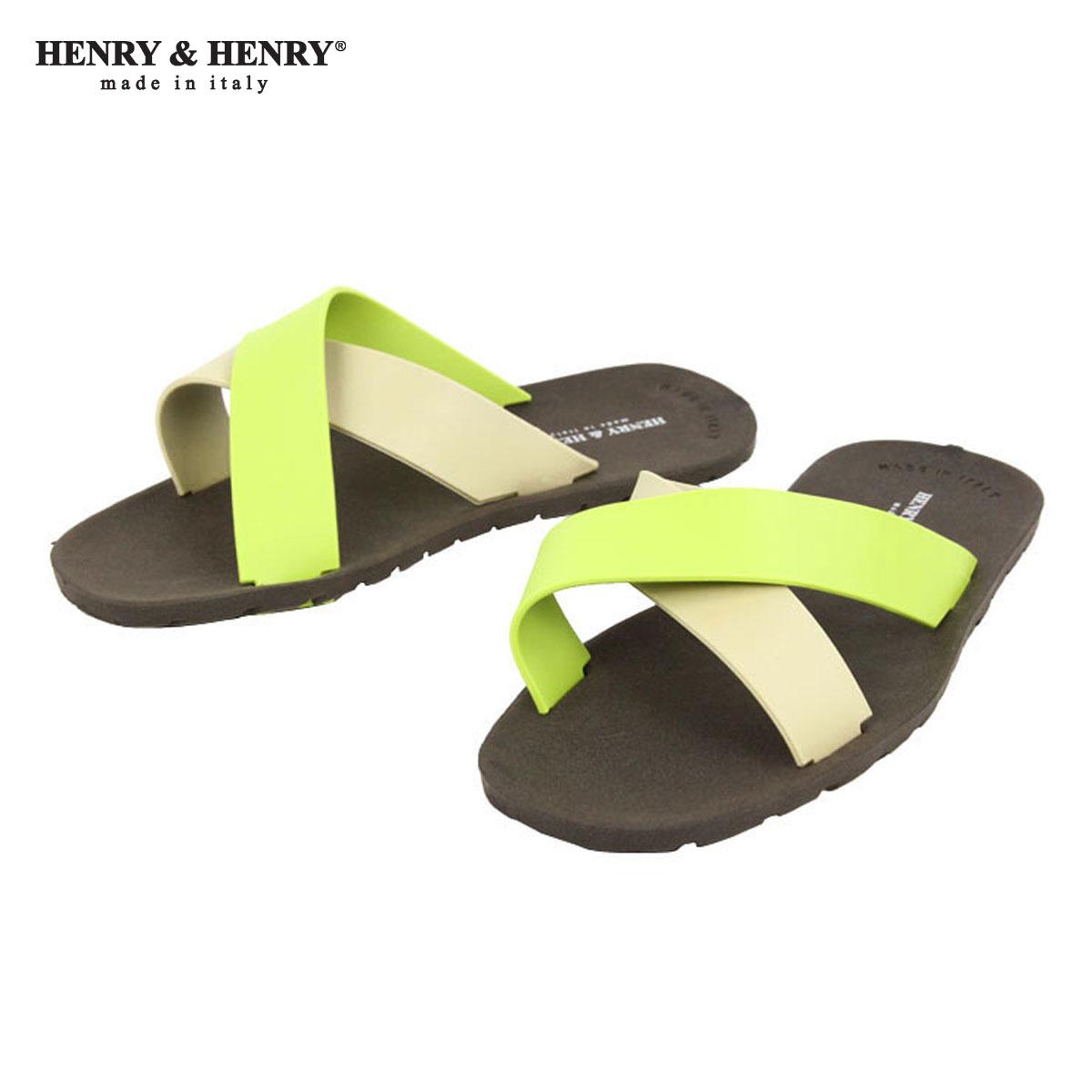 ヘンリーアンドヘンリー HENRY&HENRY 正規販売店 サンダル CROSS SANDAL MARRON / BEIGE / LIME 29/23/7 A66B B3C C4D D3E E04F