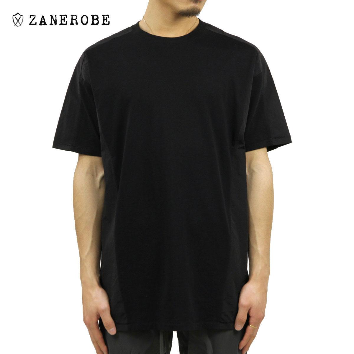 ゼンローブ Tシャツ メンズ 正規販売店 ZANEROBE 半袖Tシャツ クルーネック PANEL CREW NECK TEE BLACK 115-CRF A13B B1C C1D D1E E13F