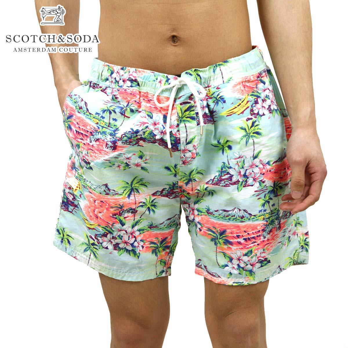 スコッチアンドソーダ SCOTCH&SODA 正規販売店 メンズ スイムパンツ Short length swimshort allover printed 84256 D A39B B1C C2D D7E E08F