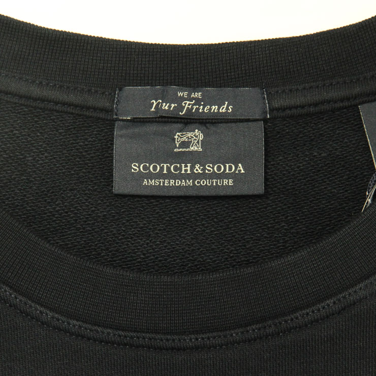 スコッチアンドソーダ スウェット メンズ 正規販売店 SCOTCH&SODA トレーナー  FAKE DOUBLE LAYE CREWNECK SWEAT 136394 0218 COMBO B A39B B1C C1D D5E E06F