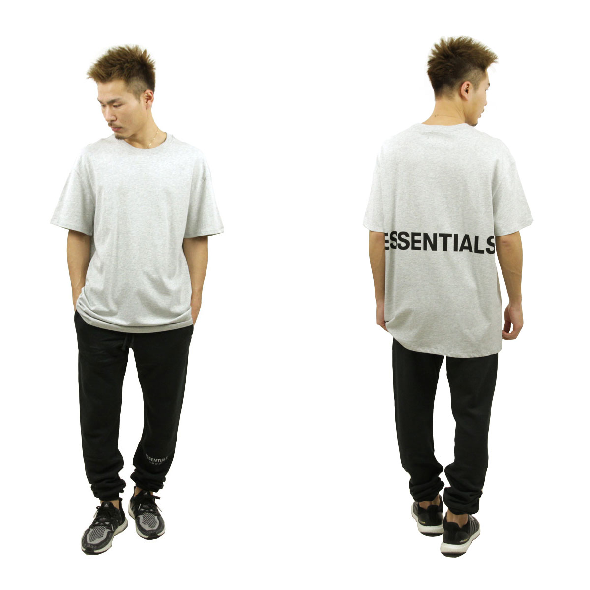 フィアオブゴッド Tシャツ 正規品 FEAR OF GOD 半袖Tシャツ  FOG - FEAR OF GOD ESSENTIALS BOXY GRAPHIC T-SHIRT HEATHER GREY AA5B B1C C1D D1E E02F