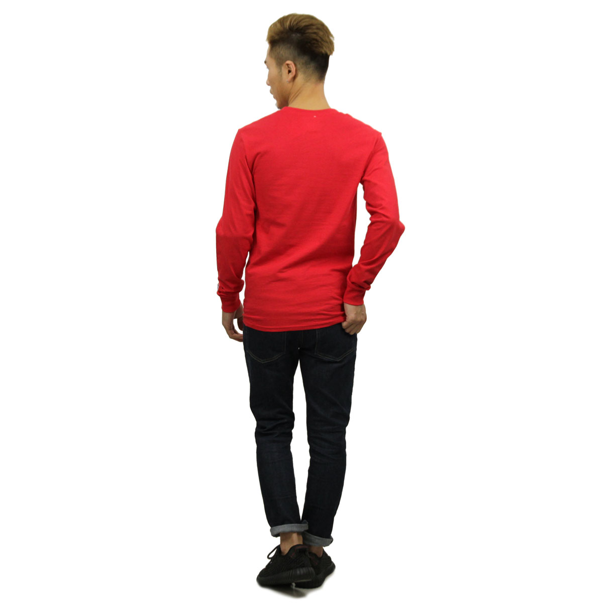 チャンピオン ロンT メンズ 正規品 CHAMPION 長袖Tシャツ L/S TEE T2229 Cotton Long Sleeve Tee W3J-TEAMREDSCARLET C logo on left sleeve D00S20