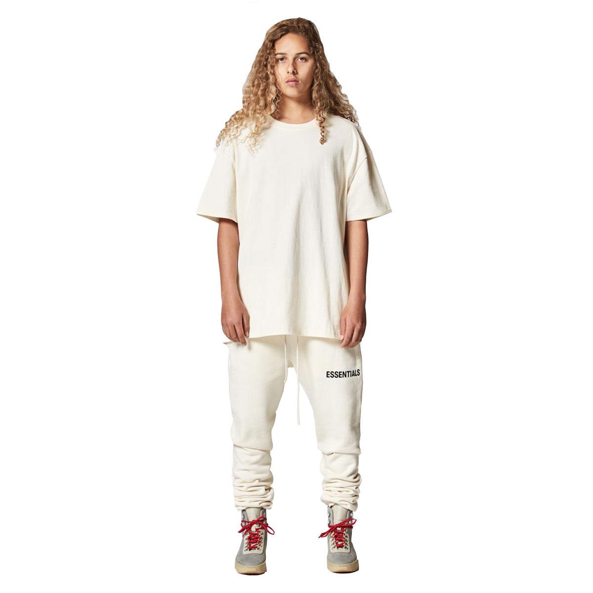 フィアオブゴッド Tシャツ 正規品 FEAR OF GOD 半袖Tシャツ  FOG - FEAR OF GOD ESSENTIALS BOXY GRAPHIC T-SHIRT CREAM AA5B B1C C1D D1E E18F